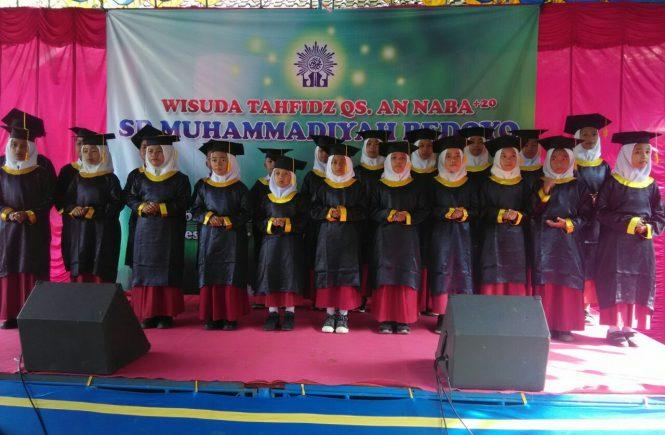 Siswa Wisuda QS An Naba SD Muhammadiyah Bedoyo