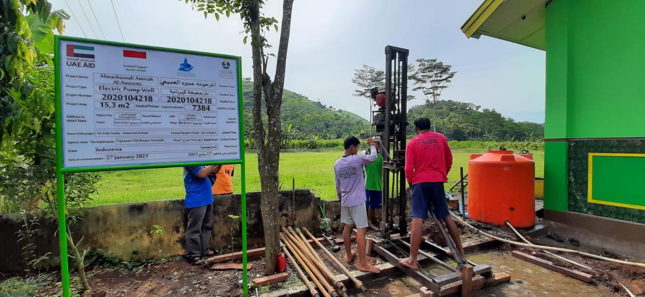 Pelaksanaan Program Pembuatan Sumur Bor di SD Muhayo